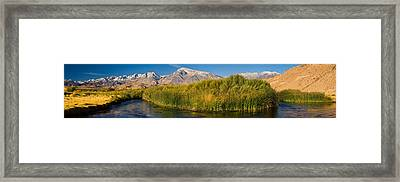 Owens River Flowing In Front Framed Print