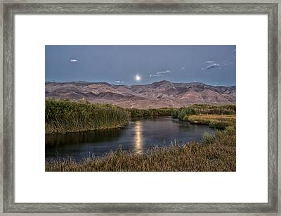 Owens River Moonrise Framed Print