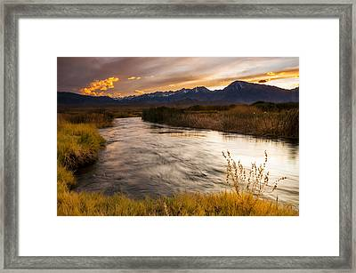 Owens River Sunset Framed Print by Joe Doherty