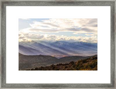 Owens Valley Sunset Framed Print