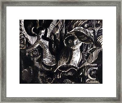 Owl 1 Framed Print by Ayan  Ghoshal