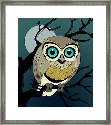 Owl 3 Framed Print by Mark Ashkenazi