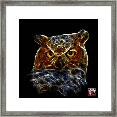 Framed Print featuring the digital art Owl 4436 - F M by James Ahn