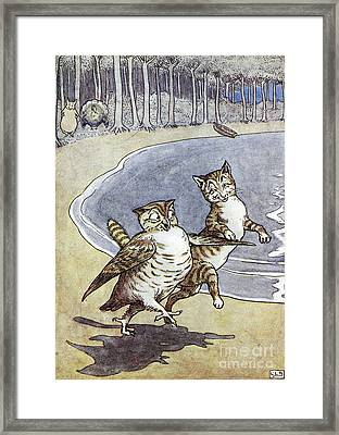 Owl And The Pussycat Framed Print by Granger