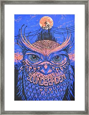 Owl At Night Framed Print by Paula Sharlea