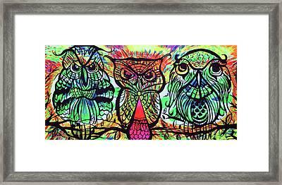 Owl B Watching Framed Print