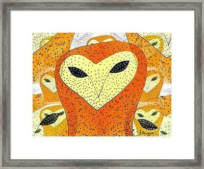 owl Framed Print by Barbara Moignard