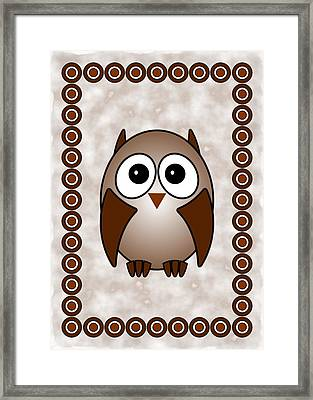 Owl - Birds - Art For Kids Framed Print by Anastasiya Malakhova