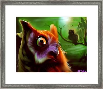 Owl Framed Print by Brandon Heffron