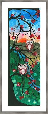 Owl Couples - 03 Framed Print