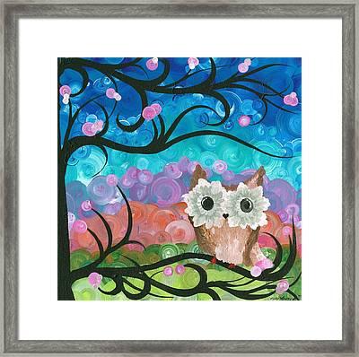 Owl Expressions - 01 Framed Print