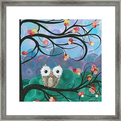 Owl Expressions - 03 Framed Print