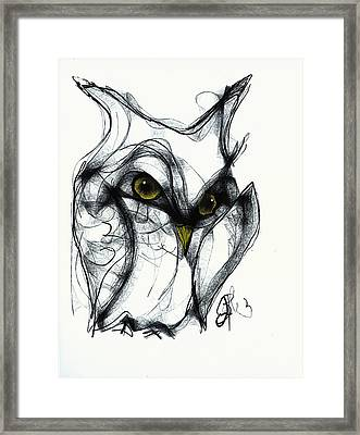 Owl Eyes  Framed Print by Jon Baldwin  Art
