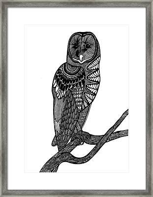 Owl Intricacy Framed Print by Monique Butcher