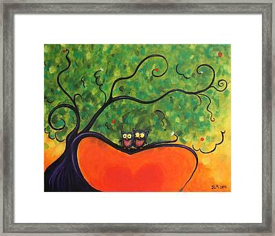 Owl Love You Framed Print by Jennifer Alvarez