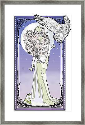 Owl Maiden Framed Print by Penny Collins