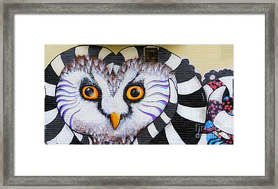 Framed Print featuring the photograph Owl Mural by Ricky L Jones