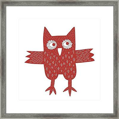 Owl Framed Print by Nic Squirrell