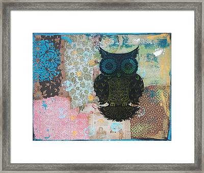 Owl Of Style Framed Print by Kyle Wood