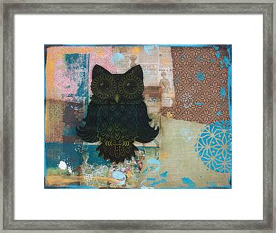 Owl Of Wisdom Framed Print by Kyle Wood