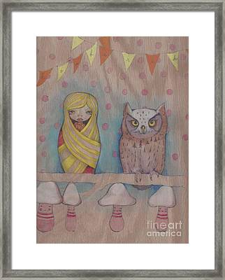 Owl Party Framed Print