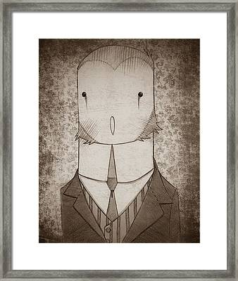 Owl Portrait Framed Print by Nate Call