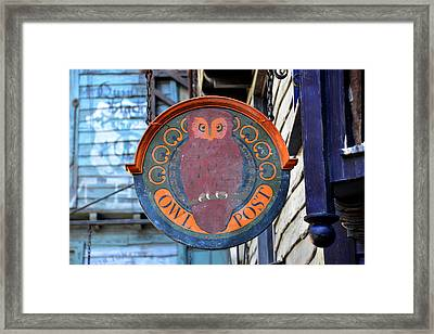 Owl Post  Framed Print by David Lee Thompson