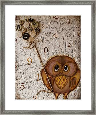 Time On A String Framed Print by flossyBfree