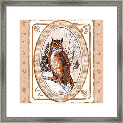 Owl Tracking His Prey Framed Print