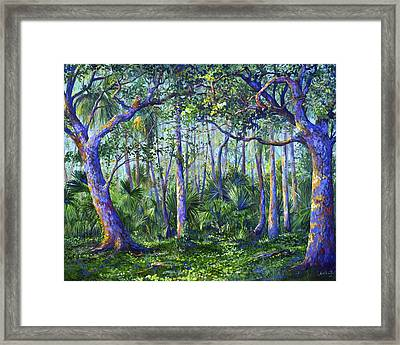 Owl Woods Framed Print
