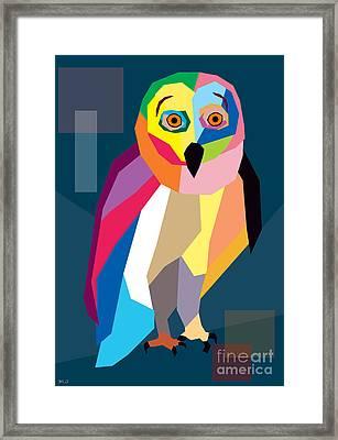 Owl Wpap  Framed Print