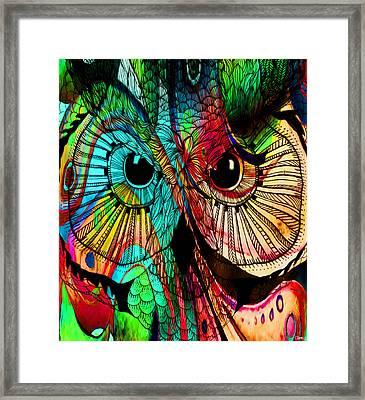 Owlesque Framed Print