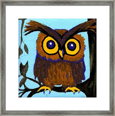 Owlette Framed Print by Genevieve Esson