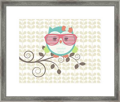 Owls 1 A Framed Print by Tamara Robinson