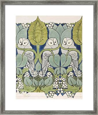 Owls, 1913 Framed Print by Charles Francis Annesley Voysey