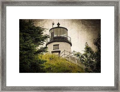 Owls Head Lighthouse Framed Print by Joan Carroll