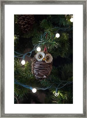 Owly Christmas Framed Print