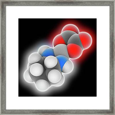 Oxaliplatin Drug Molecule Framed Print
