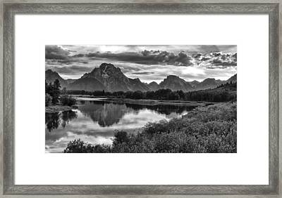 Oxbow Bend Dramatics Framed Print
