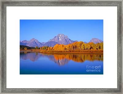 Oxbow Bend In Grand Teton Framed Print
