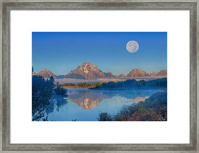 Oxbow Bend Moonset Limited Edition Framed Print