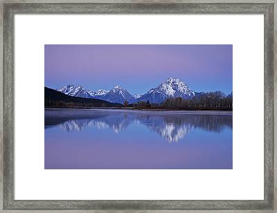 Oxbow Bend Sunrise 1 Framed Print