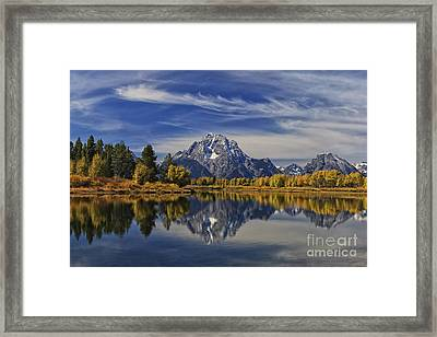 Oxbow Reflections Framed Print by Mark Kiver