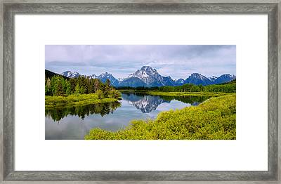 Oxbow Summer Framed Print by Chad Dutson