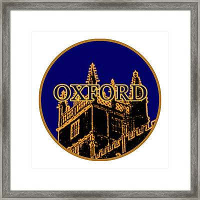 Oxford 1986 Art2579oa Jgibney The Museum Zazzle Gifts Framed Print by The MUSEUM Artist Series jGibney