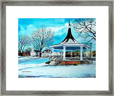 Oxford Bandstand Framed Print