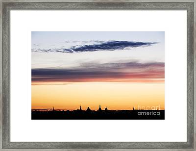 Oxford Dreaming Spires Framed Print by Tim Gainey