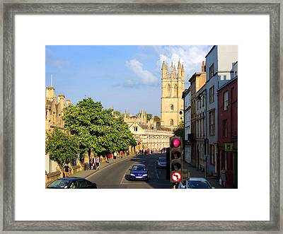 Oxford England With Magdalen College Framed Print