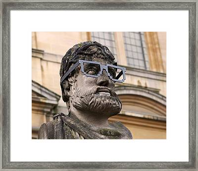 Oxford Geek Framed Print