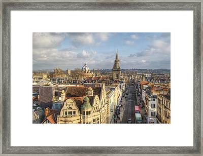 Oxford High Street Framed Print by Chris Day